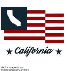 California State Map Bumper Sticker Flag
