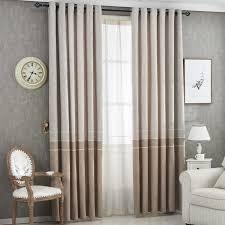 blackout braun grau dicken leinen vorhänge für wohnzimmer schlafzimmer fenster behandlungen hause dekoration panel vorhänge