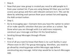 Tips for iPhone and Android Users to Send Group Messages