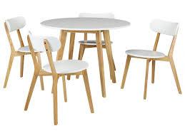 table et 4 chaises ensemble table 4 chaises colette coloris blanc ou noir