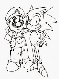 Mario Sonic Coloring Pages Print