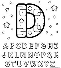 Letter D Printable Alphabet Se619 Coloring Pages