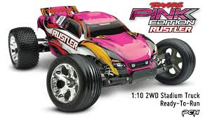 Traxxas 1 10 2wd Rustler Electric RC Stadium Truck RTR Pink Edition ...