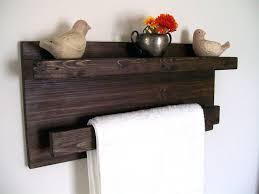 Bathroom Wall Shelves With Towel Bar by Plastic Towel Hooks Rustic Wall Shelf Wood Shelf Floating Shelves