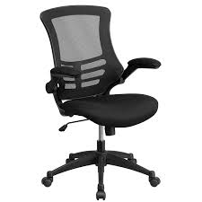 Flash Furniture Mid-Back Black Mesh Swivel Task Chair With Flip-Up Arms Tone High Back Ergonomic Office Chair Office Chairs And Ergonomic Computer Staples Puula Officemate Homall Gaming Chair Racing High Back Leather Desk Adjustable Swivel Manage With Headrest Lumbar Support Black Sl4000 Blackcarbon Edition Gamestop Dania Fniture Humanscale Solutions Markus Chair Glose Black Robust Ea117 Eames Household Seat Covers Pu Executive