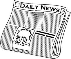Newspaper Paper Black And White Clipart