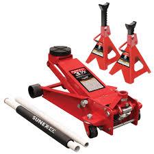 Duralast Floor Jack Handle by Sunex 66037jpk 3 1 2 Ton Floor Jack Pack W 6 Ton Stands Rapid Rise