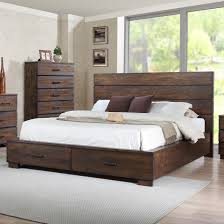 Crown Mark Cranston Queen Low Profile Bed with Footboard Storage