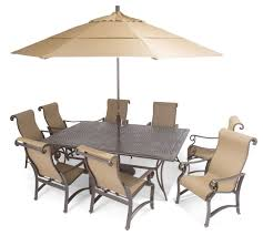 Stack Sling Patio Chair by Furniture Carlsbad Sling Aluminum Patio Furniture With Brown