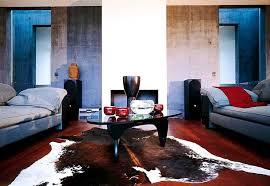 inspiration wohnzimmer mit beton und farbigem putz bild