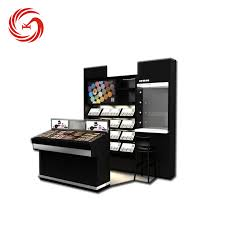 Modern Beautiful Makeup Salon Furniture Cosmetic Product Display Stands