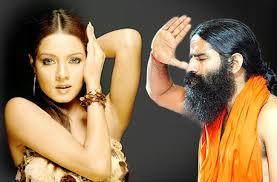 Yoga Guru Baba Ramdev Snooting On Celina