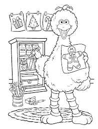 Sesame Street Colotring Pages Altsesame Coloring Birthday Full Size