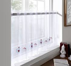 Window Art Tier Curtains And Valances by Sheer Voile Cafe Panel Kitchen Bathroom Ready Made Tier Valance