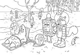 Spongebob Printable Coloring Book Pages For Kids