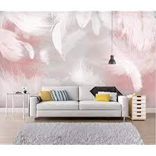 fototapete 3d effekt rosa feder tapete modern vlies riesiges bild wohnzimmer schlafzimmer jugendzimmer dekoration 200x150cm