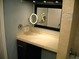 lighted makeup mirror wall mounted hardwired 6 in x 9 in wall