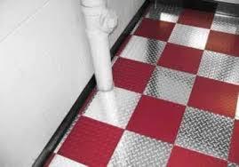 Diamond Plate Metal Interlocking Floor Tiles