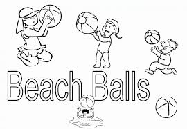 HolidayKids Playing Beach Ball Coloring Pages