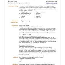 12 Sample Resumes Teacher Assistants Proposal Letter