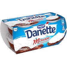 si e danone danone danette chocolate mousse desserts 4 portions mousse