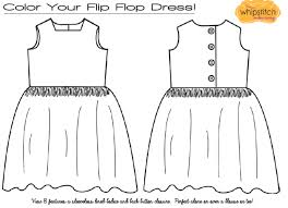 Coloring Page For The Flip Flop Dress Pattern