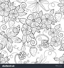 24 Best Coloring Images Pages Adult Flower Design