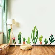 nordische frische kaktus wand aufkleber schlafzimmer wohnzimmer esszimmer fenster dekoration aufkleber kick line ins wüste pflanze aufkleber g129