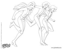 Coloriage Totally Spies Shopping JeColoriecom