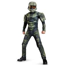 Halloween Voice Changer by Buy Halo Kids Master Chief Muscle Costume