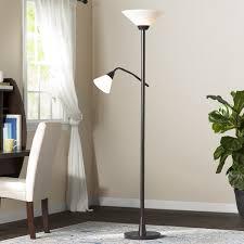72 Bronze Torchiere Floor Lamp by Andover Mills Hartigan 72