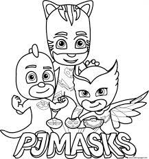 Attractive Owlette Coloring Page Confidential Pj Masks Gekko Catboy Logo Pages