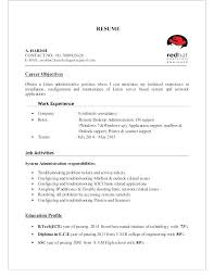 Sample Resume Of Server Administrator Packed With Tem Samples Administration Chief Clinical