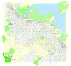 Park Map Vector Exact Detailed City Plan Printable Editable Street Adobe Illustrator Northern California