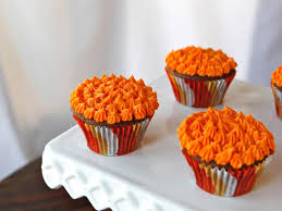 Devils Food Cake Cupcakes With Orange Buttercream Frosting Vintage Recipe For A Historical Halloween Holiday