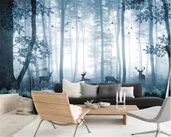 beibehang custom tapete natur blau wald elch wandbild tv cafe schlafzimmer wand hintergrund wände 3d tapete papel de parede