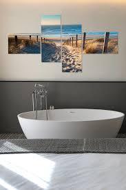 wanddeko für dein badezimmer nordseestrand als glasbild in
