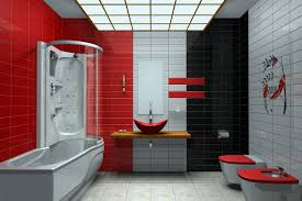 Red Wall Bathroom Ideas | Creative Bathroom Decoration Red Bathroom Babys Room Bathroom Red Modern White Grey Bathrooms And 12 Accent Ideas To Fall In Love With Fantastic Design Floor Tub Small Master Bath Paint Pating Decor Design Orange County Los Angeles Real Blue Yellow Accsories Gray Kitchen And Inspiration Behr Style Classic Toilet Retro Dilemma Colors Or Wallpaper For Dianes Kitschy Interior Mesmerizing Fniturered