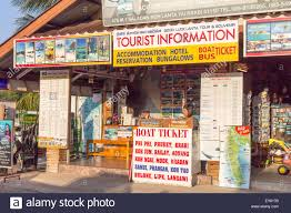 Koh Lanta Thailand Feb 2nd 2015 A Travel Agency Office In The Town
