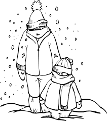 Familly Frozen Winter Coloring Pages