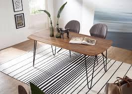 finebuy esszimmertisch keyla sheesham massivholz esstisch mit metallbeinen massiver echtholz tisch quadratisch designer holztisch massiv