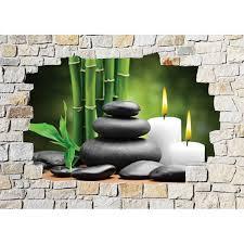 stickers mural trompe l oeil déco zen déco stickers