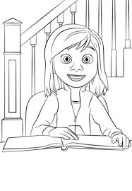 Click To See Printable Version Of Inside Out Riley Coloring Page