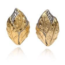 Lovely Leaf Design Jewellery in Gold