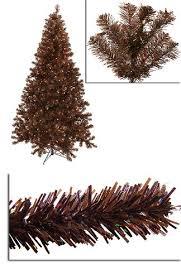 7 Pre Lit Sparkling Chocolate Brown Artificial Christmas Tree