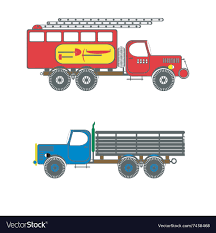 Color Icon With Trucks Royalty Free Vector Image