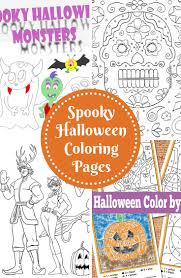 Scary Halloween Coloring Sheets Printable by Spooky Halloween Coloring Pages Trail Of Colors
