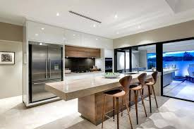 cuisine moderne blanche et bar de cuisine blanc laque modale de cuisine moderne en bois massif