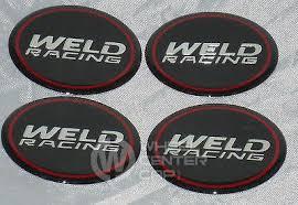 WELD RACING WHEELS SET OF 4 EMBLEM WHEEL RIM CENTER CAP DECALS STICKERS 2