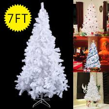 Costway 7Ft Artificial PVC Christmas Tree W Stand Holiday Season Indoor Outdoor White 0